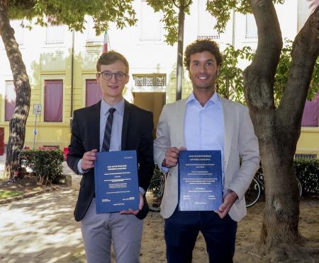 Marco bianchi e max unterthiner sono i primi laureati al campus di rimini in green economy