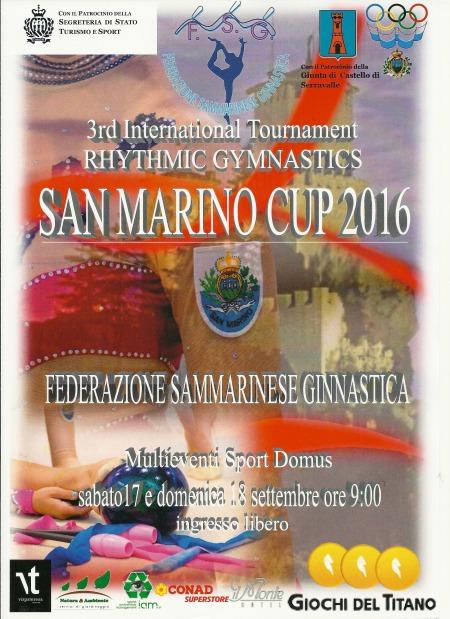 San marino cup 2016 ginnastica ritmica a san marino multieventi settembre 2016